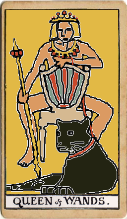 MS Paint rendition of Buffy as Tarot Queen of Wands